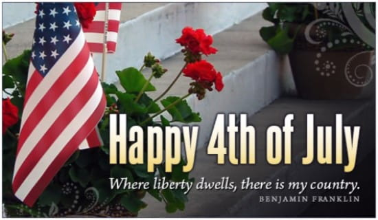 Where Liberty Dwells ecard, online card