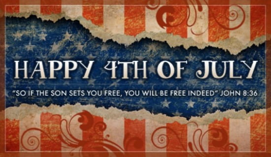 4th of July ecard, online card