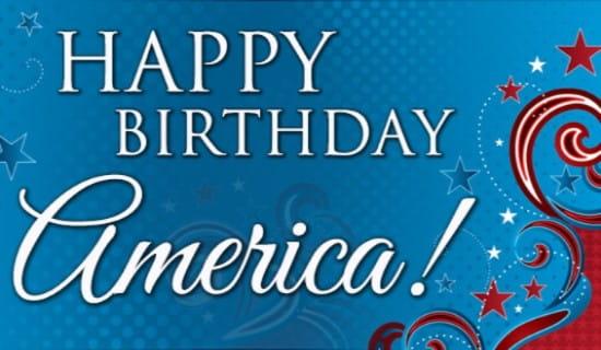 America Birthday ecard, online card