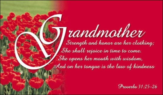 Grandmother ecard, online card