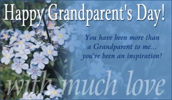 Happy Grandparent's Day ecard, online card