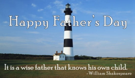 Wise Father ecard, online card