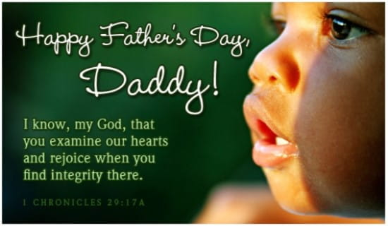 Daddy's Integrity ecard, online card