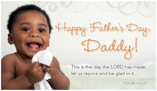 Rejoice, Daddy ecard, online card