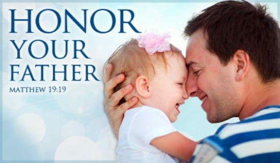 Honor Your Father ecard, online card