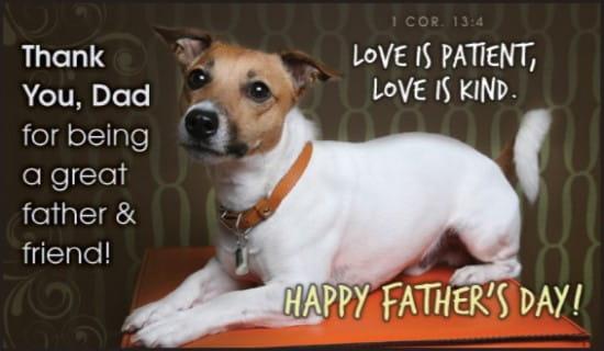 Friend & Father ecard, online card