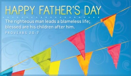 Proverbs 20:7 ecard, online card