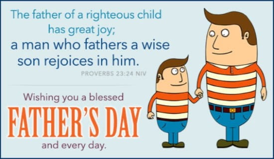Blessed Father's Day ecard, online card
