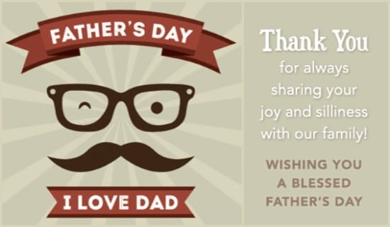 Silly Dad ecard, online card