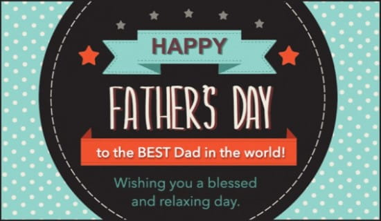 Best Dad ecard, online card