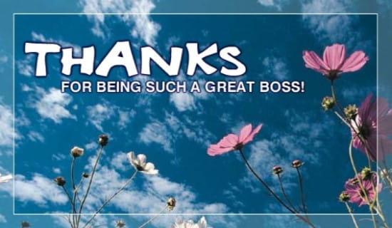 Thanks Great Boss ecard, online card