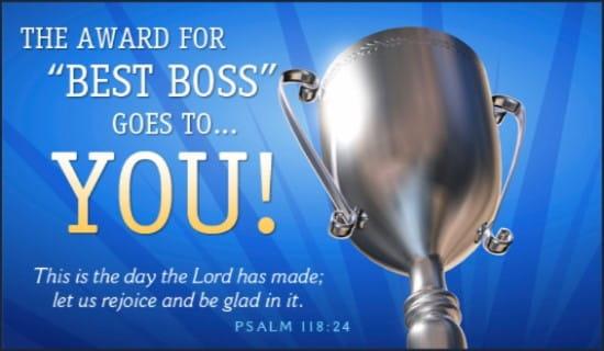 Best Boss ecard, online card