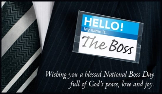 Blessed Boss Day ecard, online card