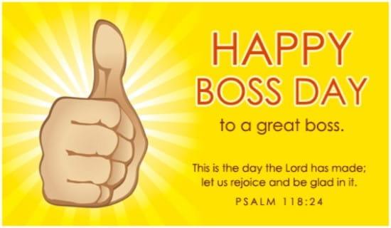 Happy Boss Day ecard, online card