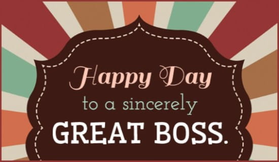 Happy Boss Day ecard, online card