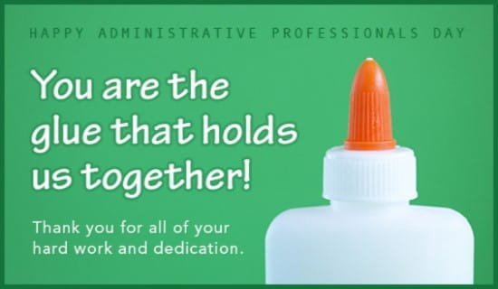 You're the Glue! ecard, online card