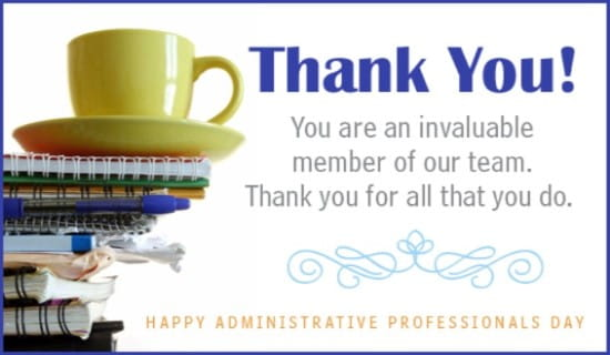 Invaluable ecard free administrative professionals day cards online m4hsunfo