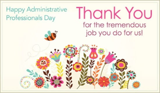administrative professionals day ecards free email greeting cards
