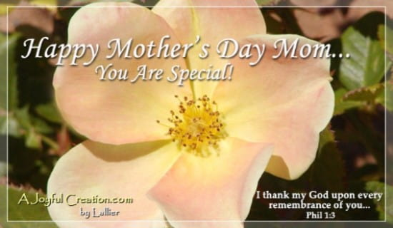 Special Times ecard, online card
