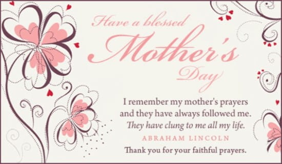 Faithful prayers ecard free mothers day cards online m4hsunfo Images