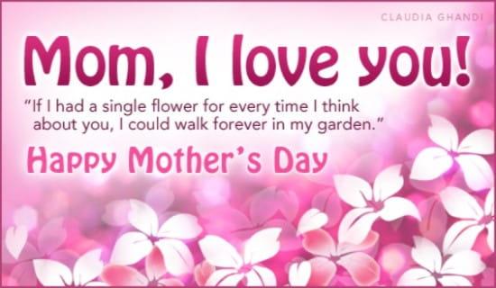 Mom, I Love You ecard, online card