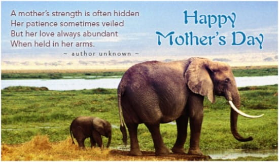 A Mother's Strength ecard, online card