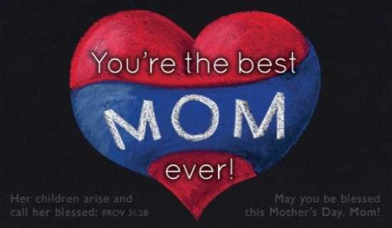 Best Mom Ever ecard, online card