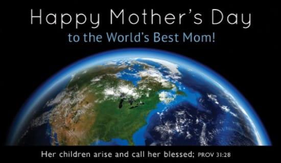 World's Best Mom ecard, online card