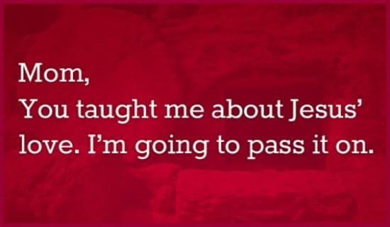 Taught Jesus ecard, online card