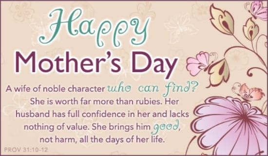 Mother's Day ecard, online card