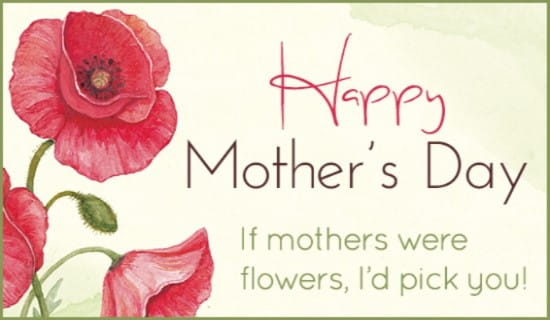 Mothers Flowers ecard, online card