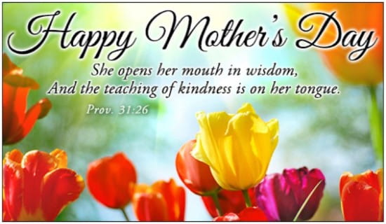 Proverbs 3126 ecard free mothers day cards online proverbs 3126 ecard online card m4hsunfo