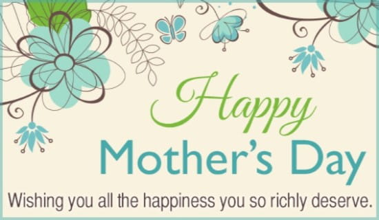 Happiness Mother ecard, online card