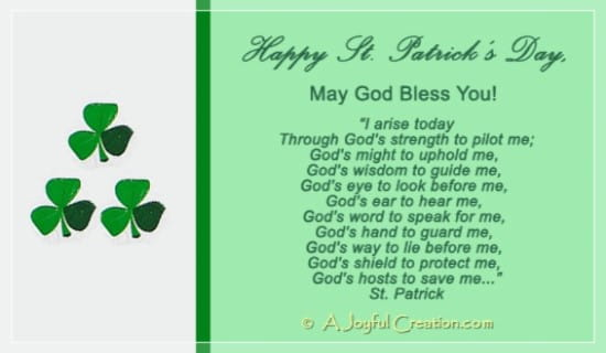Happy St Patrick's Day ecard, online card