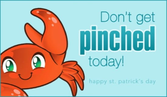 Pinched ecard, online card