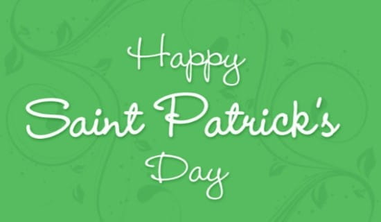 Saint Patrick's Day ecard, online card