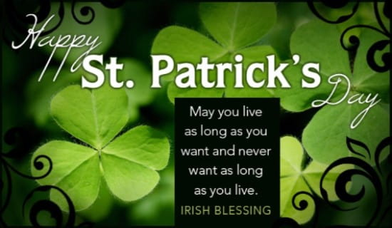 Irish Blessing ecard, online card