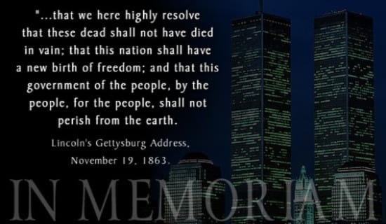 9-11 Memorium ecard, online card