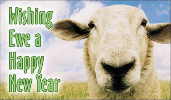 Happy New Year to Ewe eCard - Free New Year Cards Online