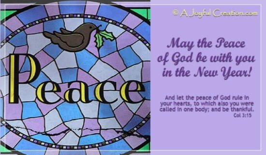 New Year - Peace ecard, online card