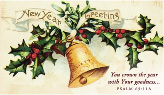 New Year Greeting ecard, online card