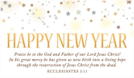 Happy New Year ecard, online card