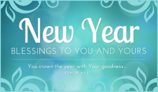 New Year Blessings ecard, online card