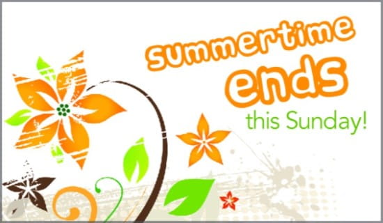 Summertime Ends ecard, online card