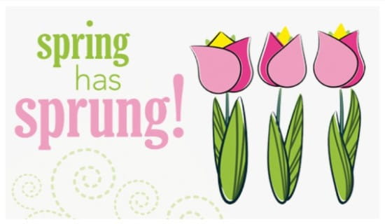 Spring has Sprung ecard, online card