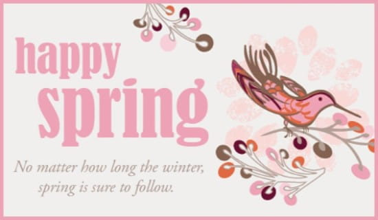 Spring to Follow ecard, online card