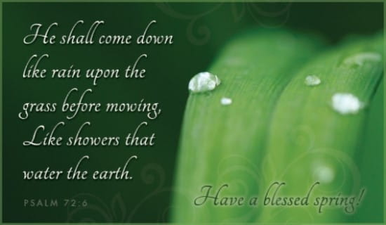 Blessed Spring ecard, online card