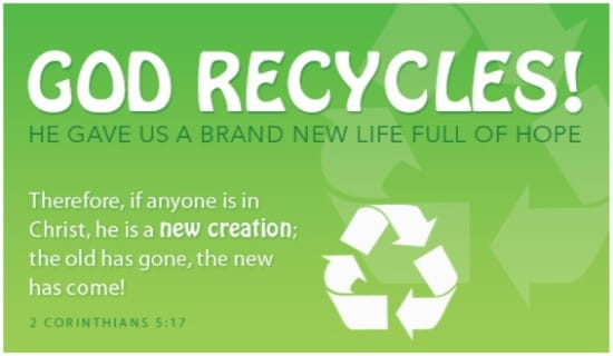 God Recycles ecard, online card
