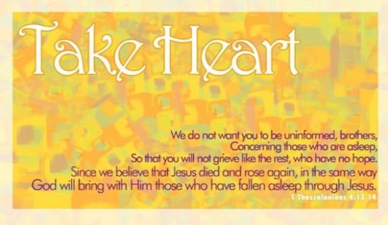 Take Heart ecard, online card