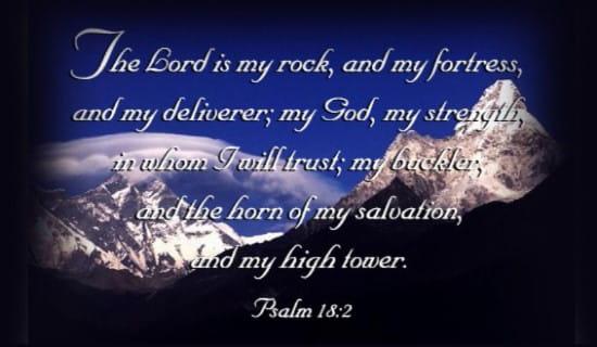 Psalm 18:2 ecard, online card